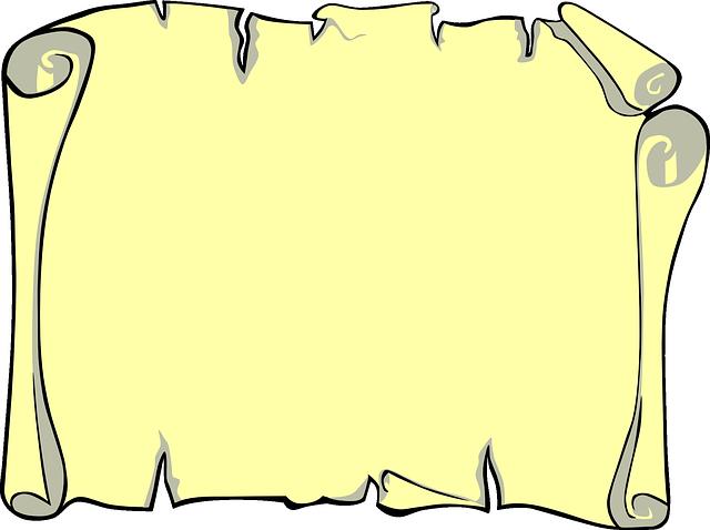 prázdný pergamen